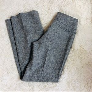 Ann Taylor Wool Blend Blue Tweed Pants Size 2